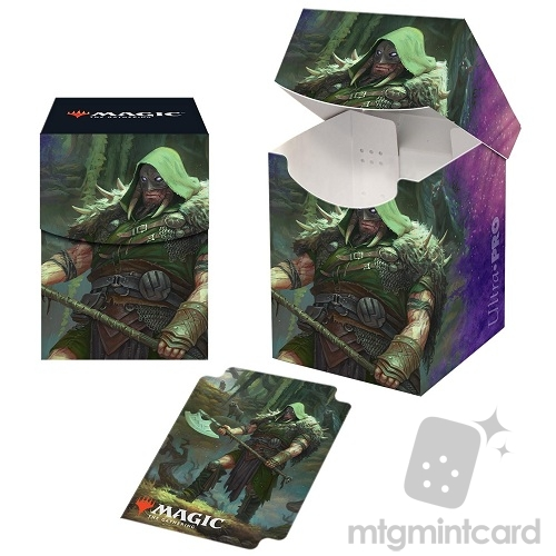 Ultra PRO Magic the Gathering 100+ Deck Box - Throne of Eldraine - v3 Garruk, Cursed Huntsman - 18188