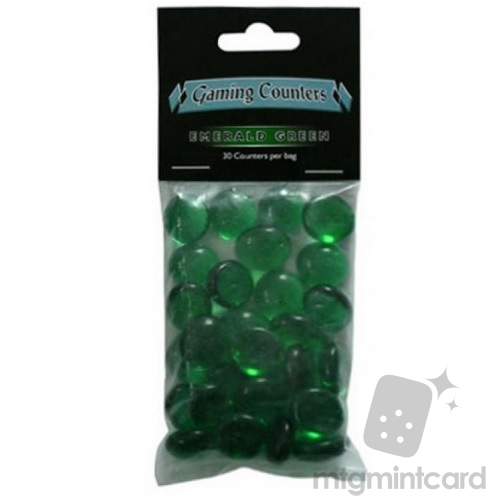 Dragon Shield Gaming Counters - Transparent - Emerald Green - AT-20204