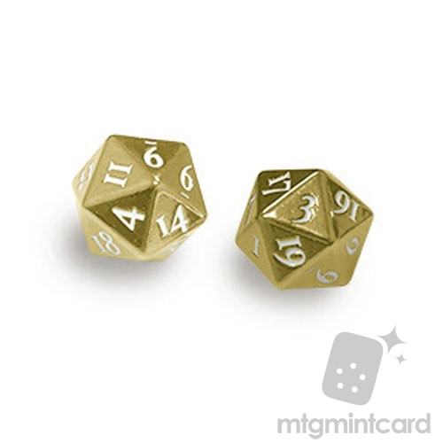 Ultra PRO Dice - 2-Dice Set Heavy Metal (D20) - Gold - 85089