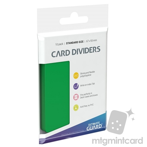 Ultimate Guard Card Dividers - Green - UGD010357