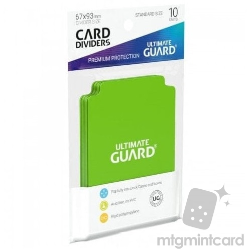 Ultimate Guard Card Dividers - Light Green - UGD010453