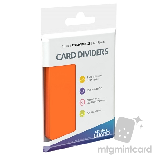 Ultimate Guard Card Dividers - Orange - UGD010455