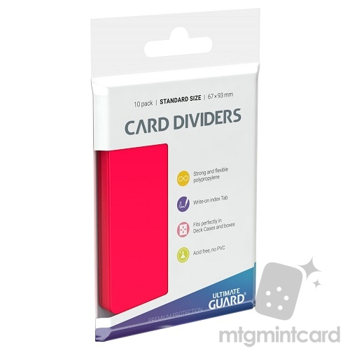 Ultimate Guard Card Dividers - Red - UGD010358