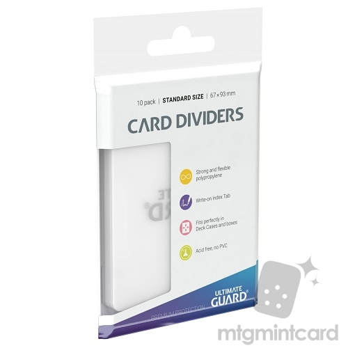 Ultimate Guard Card Dividers - Transparent - UGD010089