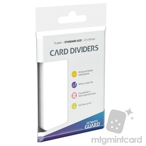 Ultimate Guard Card Dividers - White - UGD010080