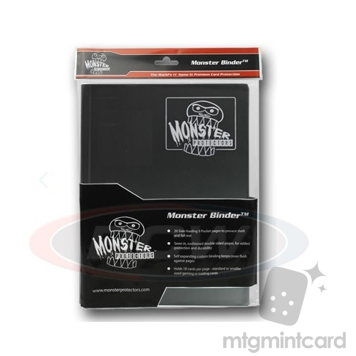 BCW - Monster Protectors Binder 9-Pocket - Black w/ White Pages - MB-9P-BWT
