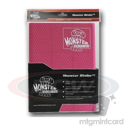 BCW - Monster Protectors Binder 9-Pocket - Holofoil Pink - MB-9P-HPI