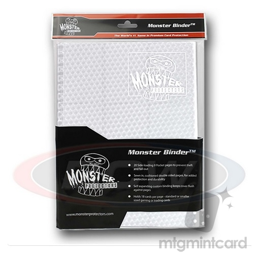 BCW - Monster Protectors Binder 9-Pocket - Holofoil White w/ White Pages - MB-9P-HWHT-WHT