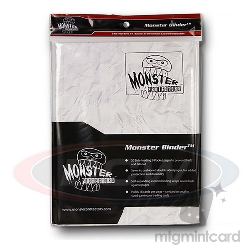 BCW - Monster Protectors Binder 9-Pocket - Marble White w/ White Pages - MB-9P-MARBWHT-WHT