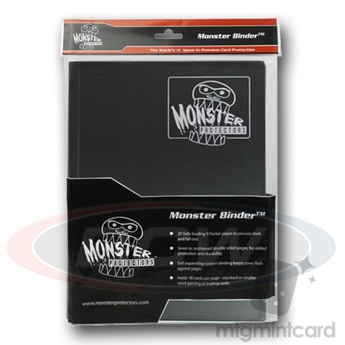 BCW - Monster Protectors Binder 9-Pocket - Matte Black - MB-9P-MBK