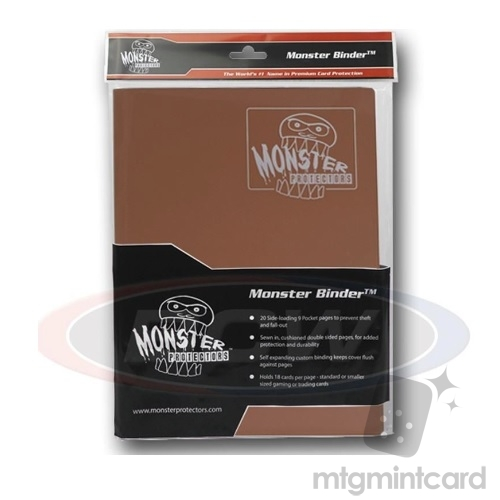 BCW - Monster Protectors Binder 9-Pocket - Matte Brown - MB-9P-MBR