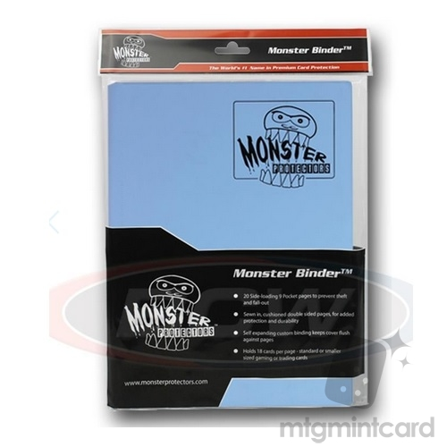 BCW - Monster Protectors Binder 9-Pocket - Matte Delta Blue - MB-9P-MDB