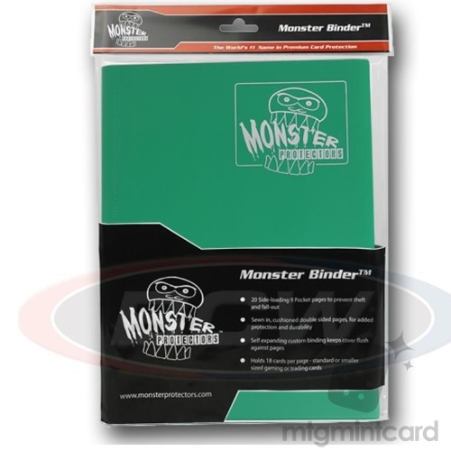 BCW - Monster Protectors Binder 9-Pocket - Matte Emerald Green - MB-9P-MEG