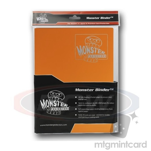 BCW - Monster Protectors Binder 9-Pocket - Matte Orange - MB-9P-MOR