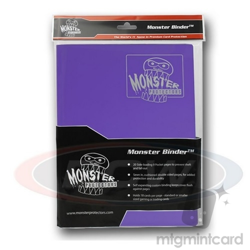 BCW - Monster Protectors Binder 9-Pocket - Matte Purple - MB-9P-MPU