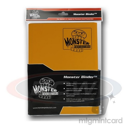 BCW - Monster Protectors Binder 9-Pocket - Matte Sunflower Orange - MB-9P-SFO