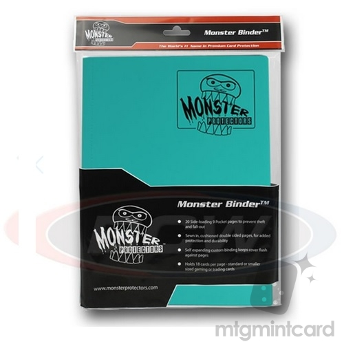 BCW - Monster Protectors Binder 9-Pocket - Matte Teal - MB-9P-TEA