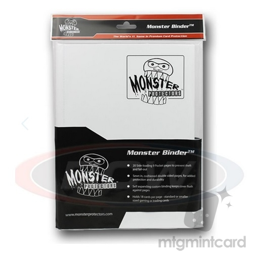 BCW - Monster Protectors Binder 9-Pocket - Matte White - MB-9P-MWT