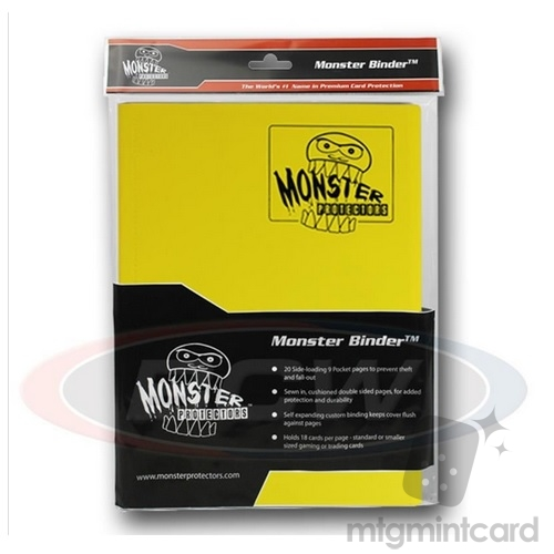 BCW - Monster Protectors Binder 9-Pocket - Matte Yellow - MB-9P-YLW