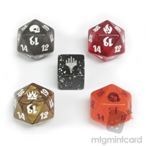 MTG 20-SIDED LIFE COUNTER DICE SET and PLANECHASE 2012 BLACK DICE Package