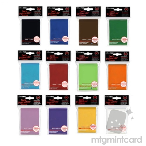 Ultra Pro 50 Standard Deck Protector Sleeves Solid Color Package