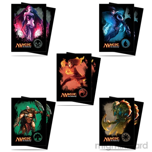 Ultra Pro 80 Magic the Gathering Deck Protector Sleeves Set - Mana 4 Planeswalker