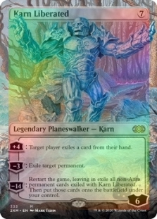 The Gathering MTG Double Masters M//NM Magic Foil Karn Liberated borderless