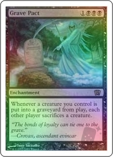 Magic Mtg 9th Edition Grave Pact  slightly played