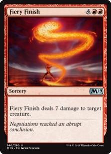Fiery Finish