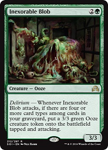 FOIL CHINESE INEXORABLE BLOB Shadows Over Innistrad SOI Magic MTG MINT CARD