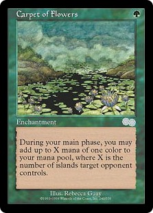 carpet of flowers mtg. carpet of flowers | urza\u0027s saga english regular singles magic the gathering mtg t