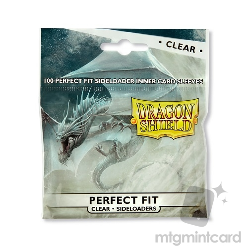 Dragon Shield 100 - Perfect Fit Deck Protector Sleeves - Clear Sideloaders - AT-13101