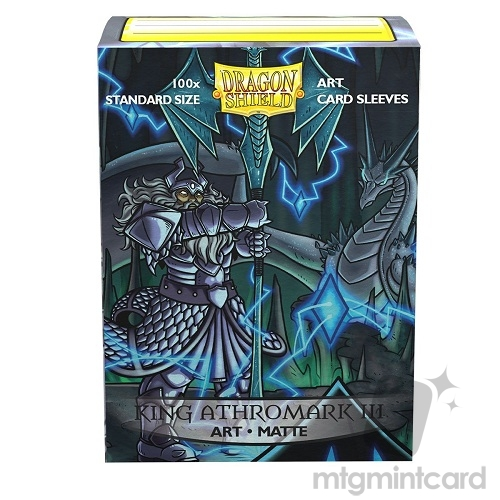 Dragon Shield 100 - Standard Deck Protector Sleeves - ​​Art Matte King Athromark III - Portrait - AT-12035