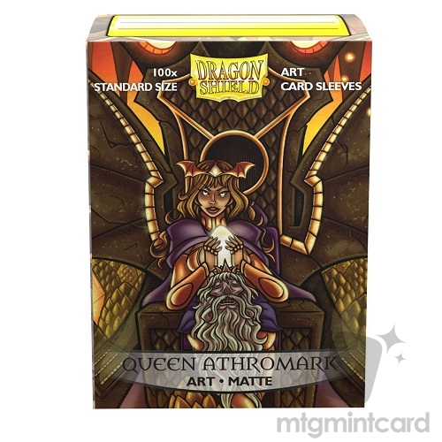 Dragon Shield 100 - Standard Deck Protector Sleeves - ​​Art Matte Queen Athromark - Portrait - AT-12033
