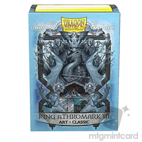 Dragon Shield 100 - Standard Deck Protector Sleeves - ​​Classic Art King Athromark III- Coat-of-Arms - AT-12027