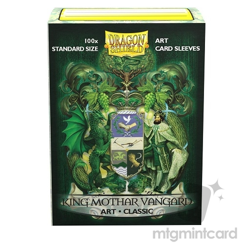 Dragon Shield 100 - Standard Deck Protector Sleeves - ​​Classic Art King Mothar Vangard- Coat-of-Arms - AT-12028