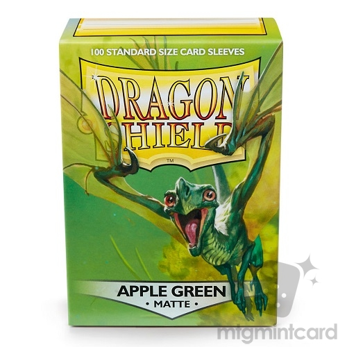 Dragon Shield 100 - Standard Deck Protector Sleeves - Matte Apple Green - AT-11018