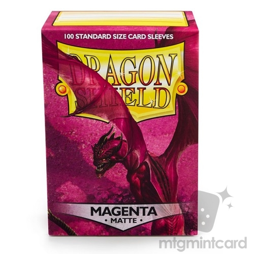 Dragon Shield 100 - Standard Deck Protector Sleeves - Matte Magenta - AT-11026