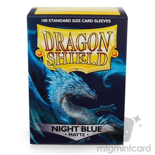 Dragon Shield 100 - Standard Deck Protector Sleeves - Matte Night Blue - AT-11042