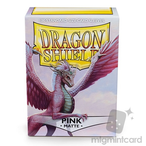 Dragon Shield 100 - Standard Deck Protector Sleeves - Matte Pink- AT-11012