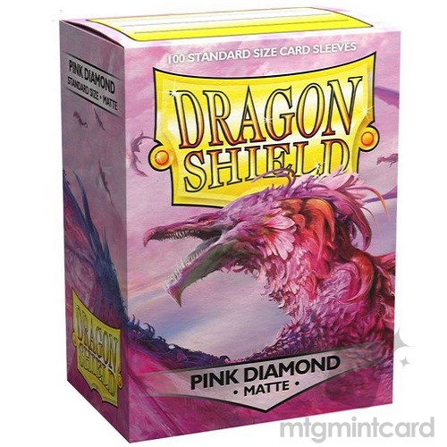 Dragon Shield 100 - Standard Deck Protector Sleeves - Matte Pink Diamond - AT-11039
