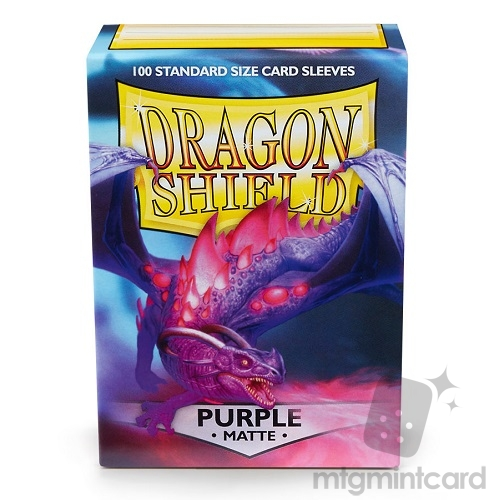 Dragon Shield 100 - Standard Deck Protector Sleeves - Matte Purple - AT-11009