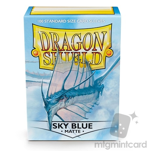 Dragon Shield 100 - Standard Deck Protector Sleeves - Matte Sky Blue - AT-11019