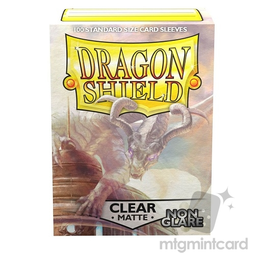 Dragon Shield 100 - Standard Deck Protector Sleeves - Non Glare Matte Clear Mantem - AT-11801