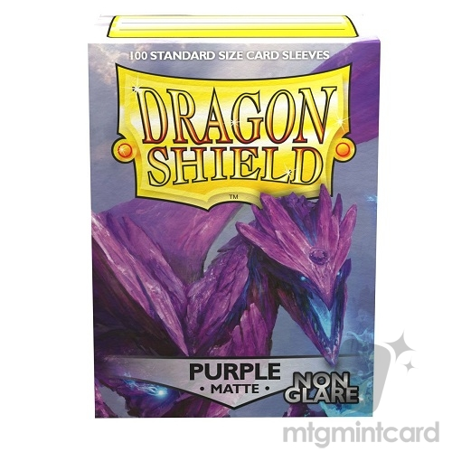 Dragon Shield 100 - Standard Deck Protector Sleeves - Non Glare Matte Purple Amifist - AT-11809