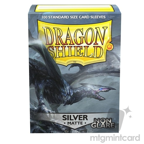 Dragon Shield 100 - Standard Deck Protector Sleeves - Non Glare Matte Silver Argentia - AT-11808