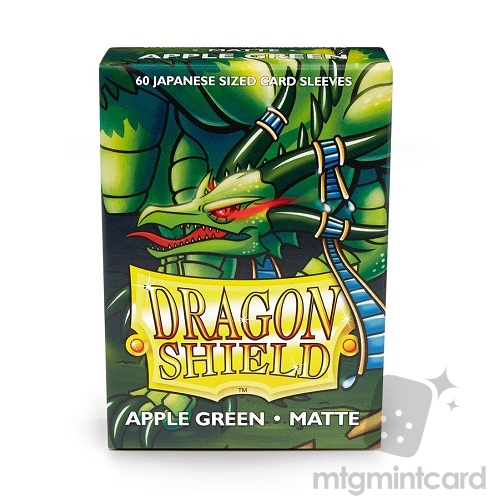 Dragon Shield 60 - Deck Protector Sleeves - Japanese size Matte Apple Green - AT-11118