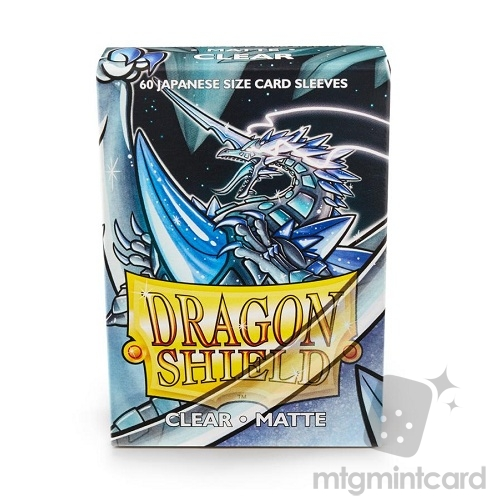 Dragon Shield 60 - Deck Protector Sleeves - Japanese size Matte Clear (Kakush) - AT-11101