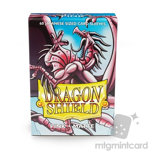 Dragon Shield 60 - Deck Protector Sleeves - Japanese size Matte Pink - AT-11112