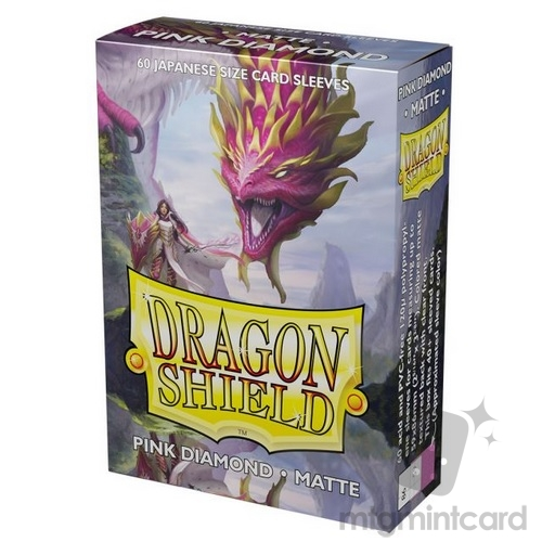 Dragon Shield 60 - Deck Protector Sleeves - Japanese size Matte - Pink Diamond (Cornelia) - AT-11139